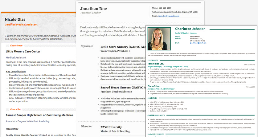 Free Resume Builder Websites And Applications - The Grid System