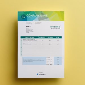 invoice template acqualime by invoiceberry