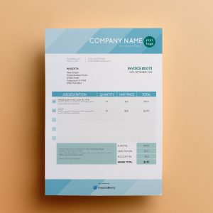 ShadesofBlue invoice template by invoiceberry