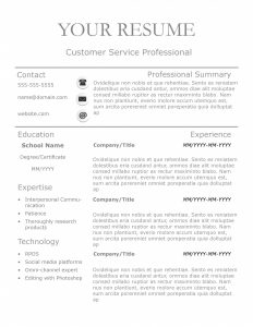 Grey Line resume template by TheGridSystem