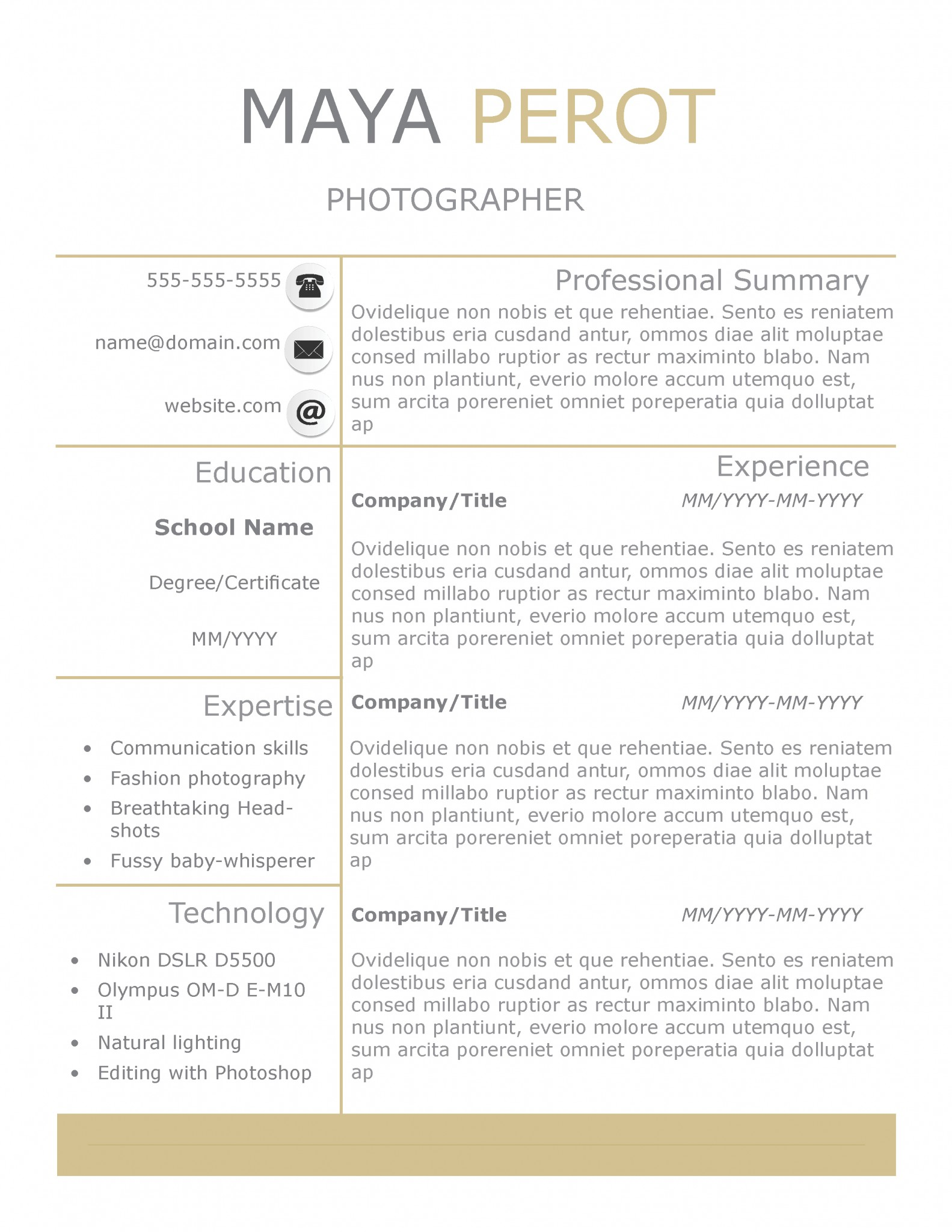 Sunny Day Resume Template By TheGridSystem  Company Resume Template