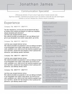Open Box resume template by TheGridSystem
