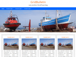 free wordpress theme with grid layout