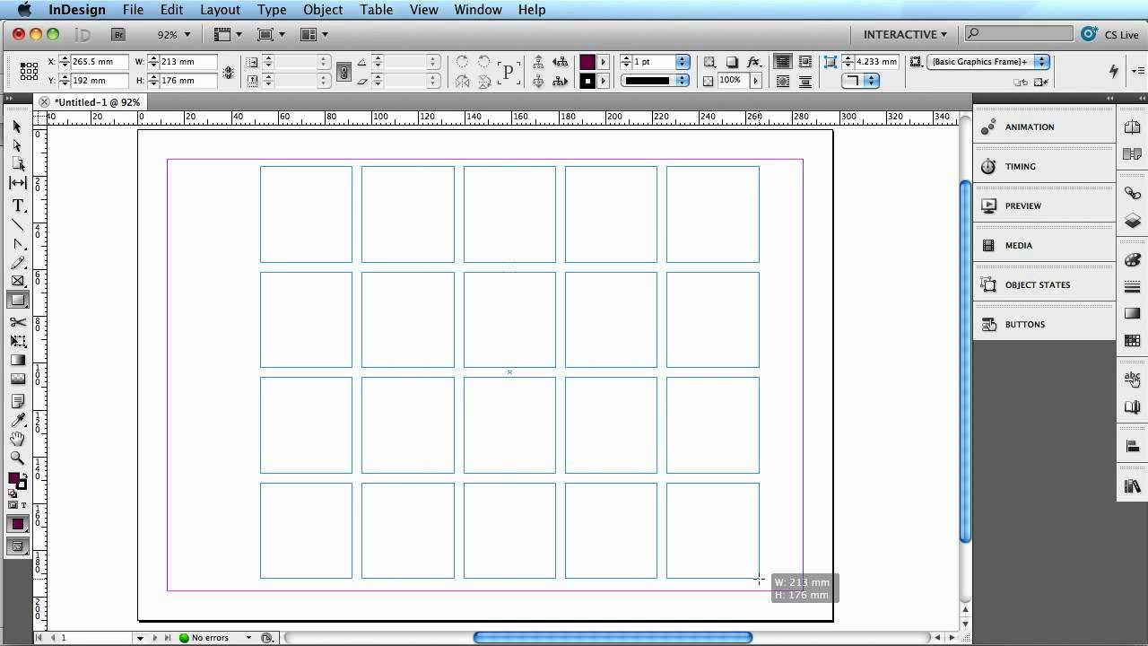 how to create an indesign grid with gridify the grid system. Black Bedroom Furniture Sets. Home Design Ideas