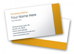 Printable online Yellow Stripe Business Card Template